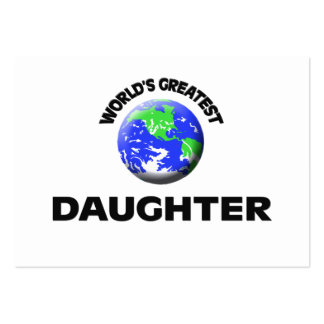 World's Greatest Daughter Business Card Templates