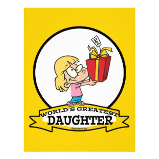 WORLDS GREATEST DAUGHTER II CARTOON FULL COLOR FLYER