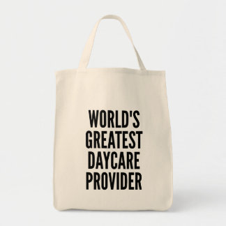 Worlds Greatest Daycare Provider Tote Bag