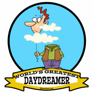 WORLDS GREATEST DAYDREAMER CARTOON ACRYLIC CUT OUTS