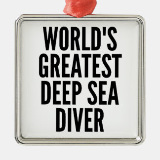 Worlds Greatest Deep Sea Diver Christmas Ornament