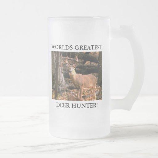 WORLDS GREATEST DEER HUNTER! 16oz STEIN Coffee Mugs