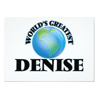 World's Greatest Denise 13 Cm X 18 Cm Invitation Card