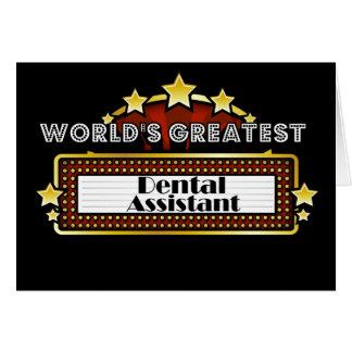 World's Greatest Dental Assistant Card