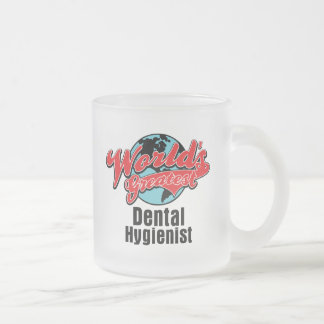 Worlds Greatest Dental Hygienist Frosted Glass Mug