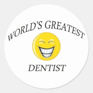 World's Greatest Dentist Classic Round Sticker
