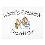 Worlds Greatest Dentist Open Wide Personalized Invitations
