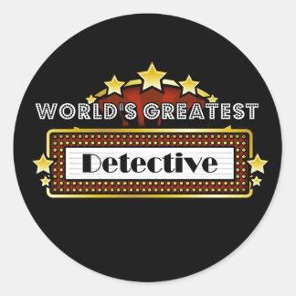 World's Greatest Detective Round Sticker