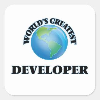 World's Greatest Developer Square Sticker
