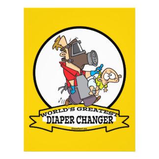 WORLDS GREATEST DIAPER CHANGER DAD CARTOON 21.5 CM X 28 CM FLYER
