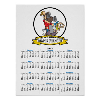 WORLDS GREATEST DIAPER CHANGER DAD CARTOON POSTERS