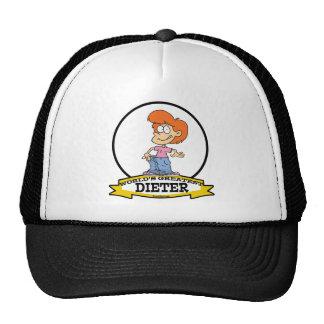 WORLDS GREATEST DIETER FEMALE II CARTOON HAT