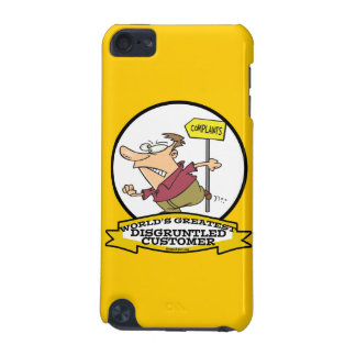 WORLDS GREATEST DISGRUNTLED CUSTOMER MEN CARTOON iPod TOUCH (5TH GENERATION) COVERS
