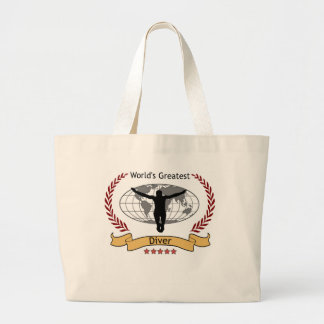 World's Greatest Diver Mens Gear Jumbo Tote Bag