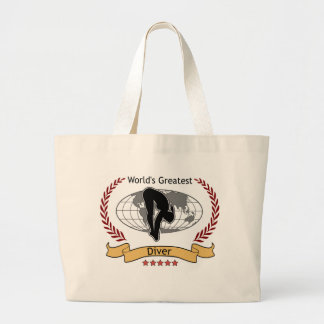 World's Greatest Diver Womens Gear Jumbo Tote Bag
