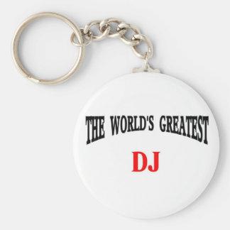 World's Greatest DJ Basic Round Button Key Ring