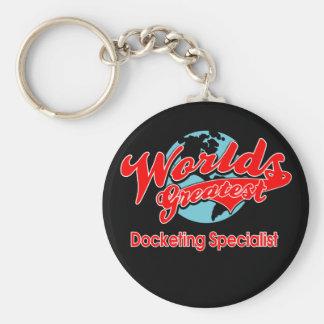 World's Greatest Docketing Specialist Basic Round Button Key Ring
