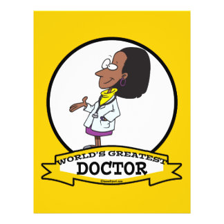 WORLDS GREATEST DOCTOR AFRICAN AMERICAN WOMAN 21.5 CM X 28 CM FLYER
