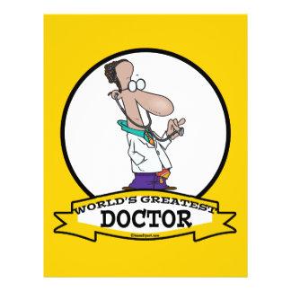 WORLDS GREATEST DOCTOR MEN CARTOON PERSONALIZED FLYER