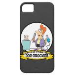 WORLDS GREATEST DOG GROOMER WOMEN CARTOON iPhone 5 CASES