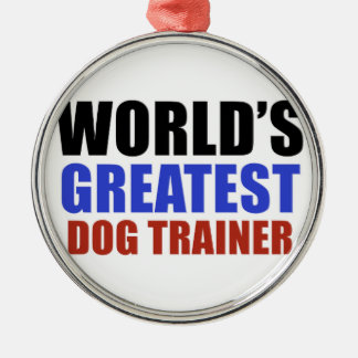 World's greatest Dog trainer Christmas Ornament