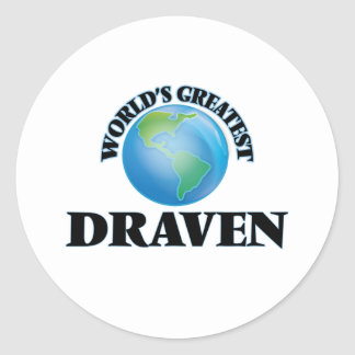 World's Greatest Draven Round Stickers