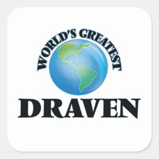World's Greatest Draven Square Sticker