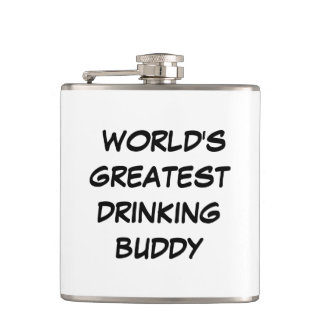 """World's Greatest Drinking Buddy"" Flask"
