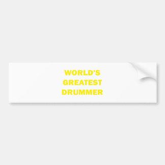 World's Greatest Drummer Bumper Stickers