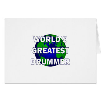 World's Greatest Drummer Card