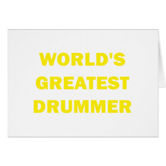 World's Greatest Drummer Cards