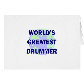 World's Greatest Drummer Cards