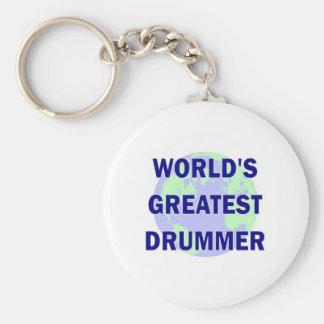 World's Greatest Drummer Keychains