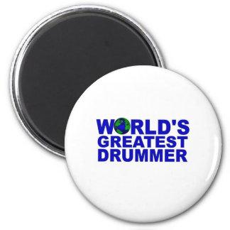 World's Greatest Drummer Fridge Magnets
