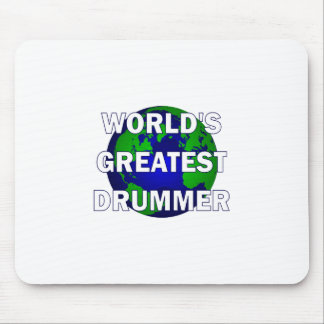 World's Greatest Drummer Mouse Pads