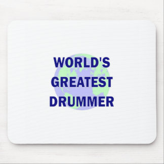 World's Greatest Drummer Mousepads