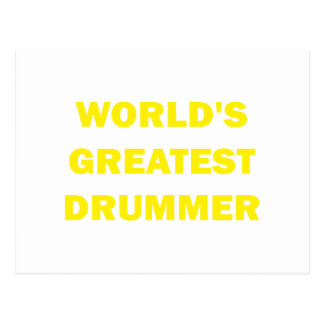 World's Greatest Drummer Post Cards