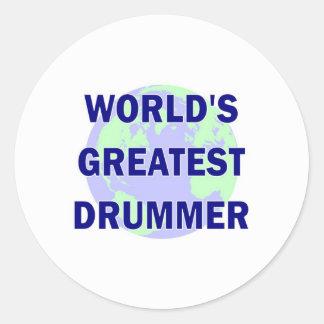 World's Greatest Drummer Stickers