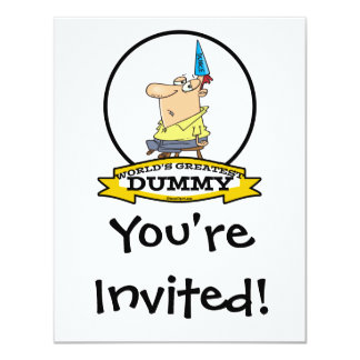 WORLDS GREATEST DUMMY MEN CARTOON CUSTOM INVITE