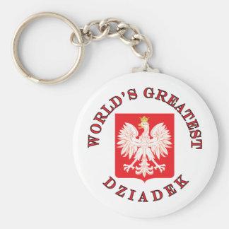 World's Greatest Dziadek Basic Round Button Key Ring
