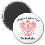 World's Greatest Dziadziu Red Eagle 6 Cm Round Magnet