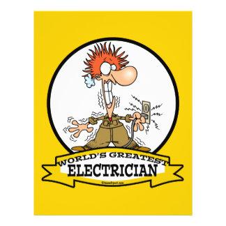 WORLDS GREATEST ELECTRICIAN MEN CARTOON 21.5 CM X 28 CM FLYER