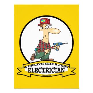 WORLDS GREATEST ELECTRICIAN MEN II CARTOON 21.5 CM X 28 CM FLYER