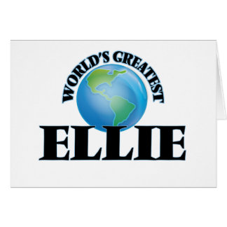 World's Greatest Ellie Greeting Cards