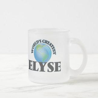 World's Greatest Elyse Frosted Glass Mug