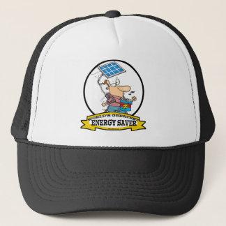 WORLDS GREATEST ENERGY SAVER MEN CARTOON TRUCKER HAT