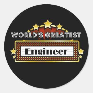 World's Greatest Engineer Round Sticker