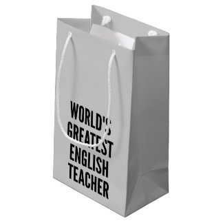 Worlds Greatest English Teacher Small Gift Bag