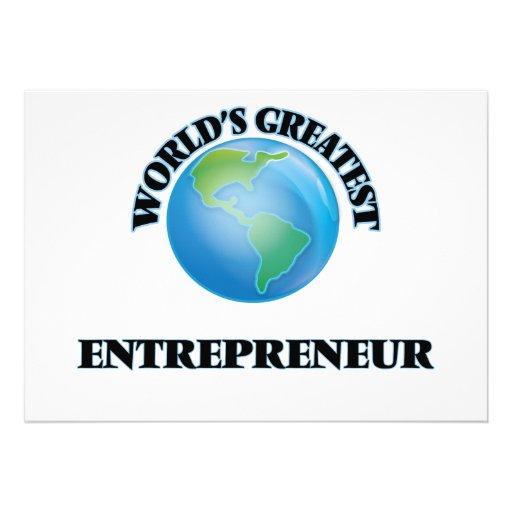 World's Greatest Entrepreneur Personalized Invitation