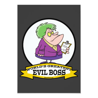 WORLDS GREATEST EVIL BOSS LADY CARTOON ANNOUNCEMENT
